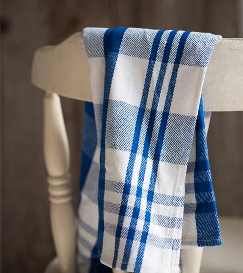 Serviette-tartan-bleu